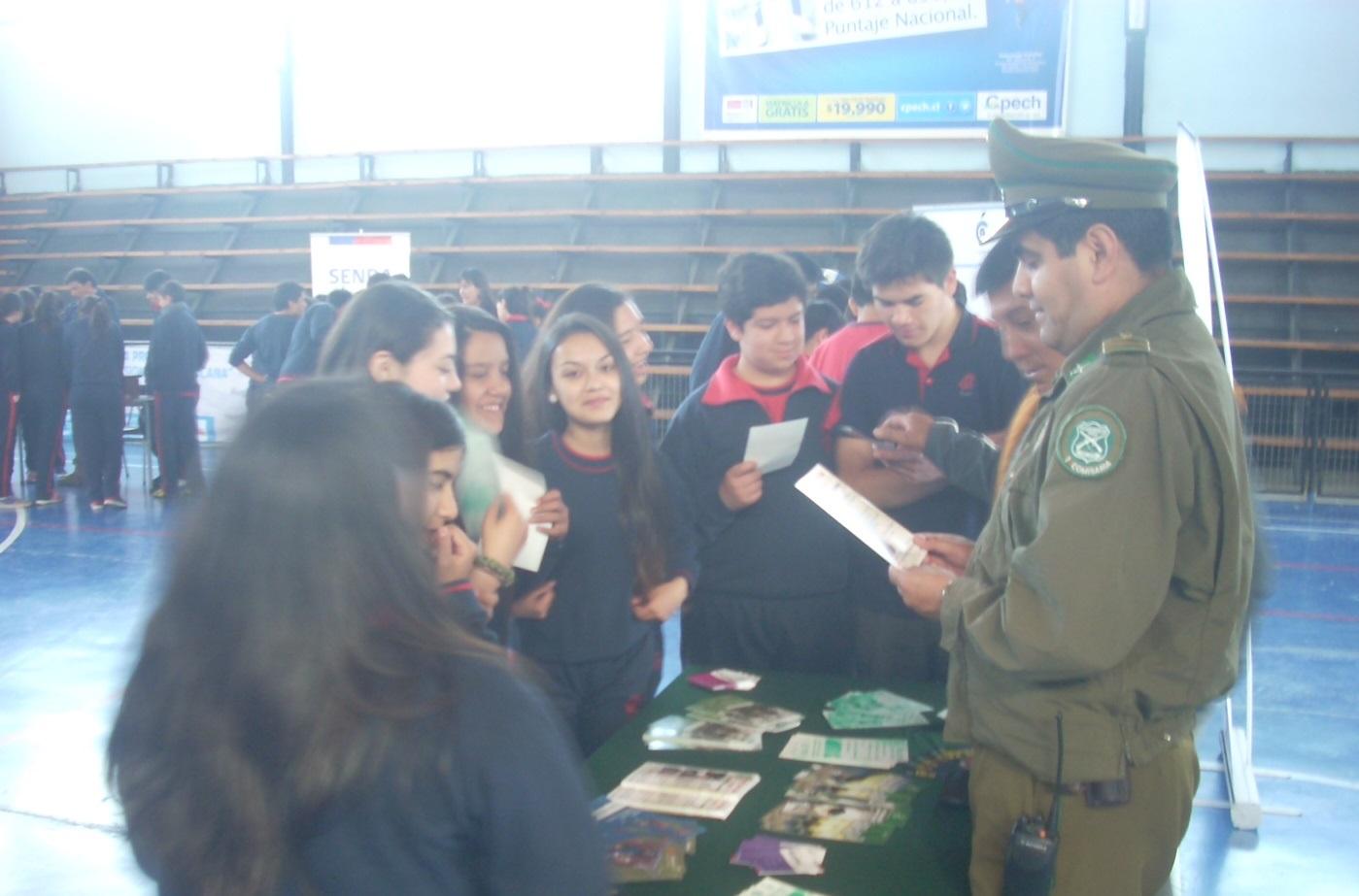 350 alumnos participaron en Feria Preventiva en Curicó
