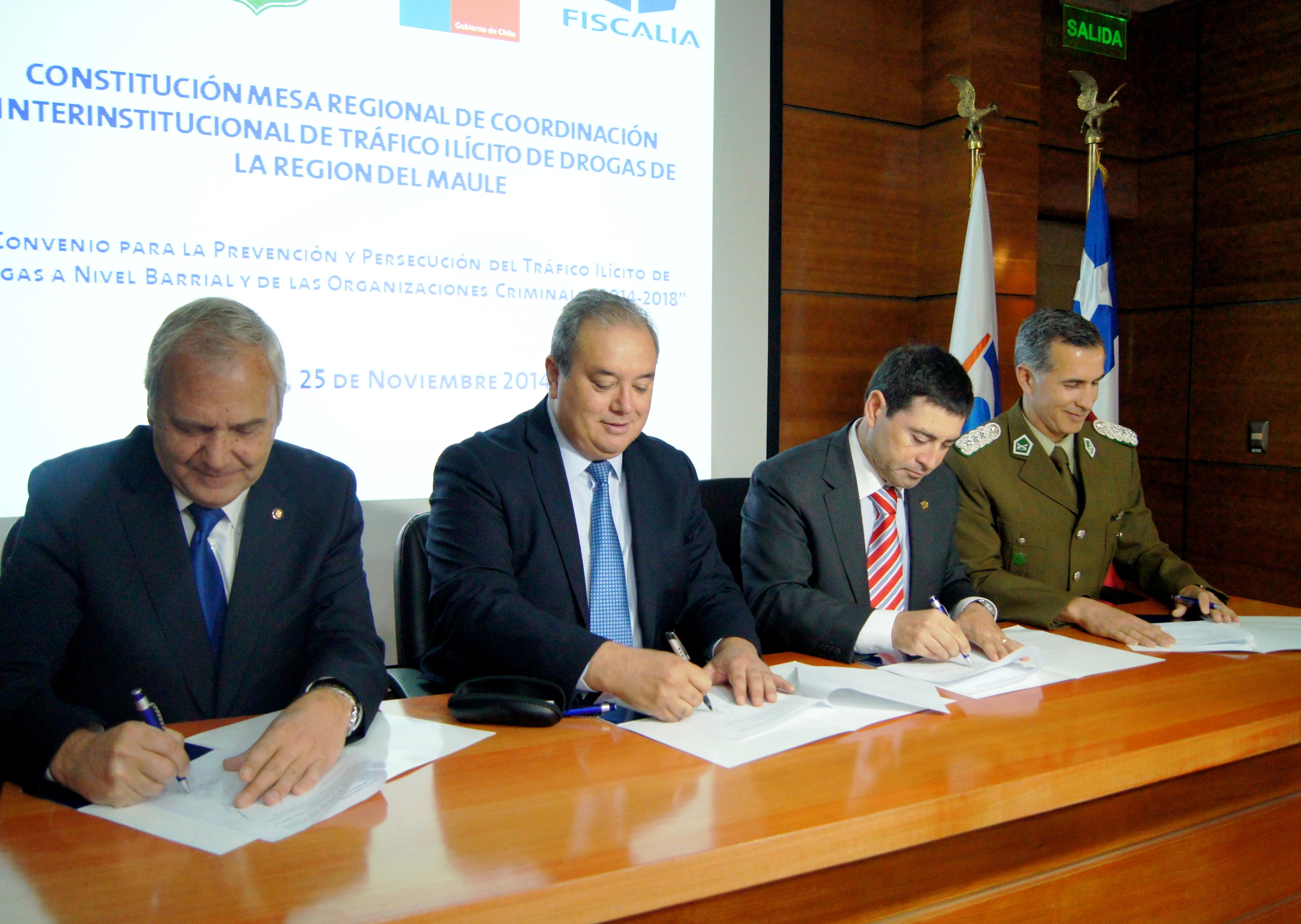 Constituyen Mesa Regional de Coordinación para el Tráfico de Drogas