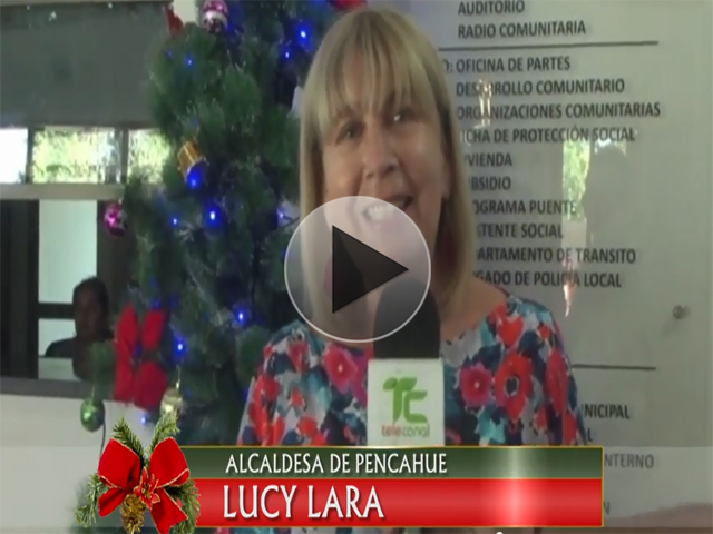 Alcaldesa Lucy Lara envió Saludo de Navidad a Pencahue