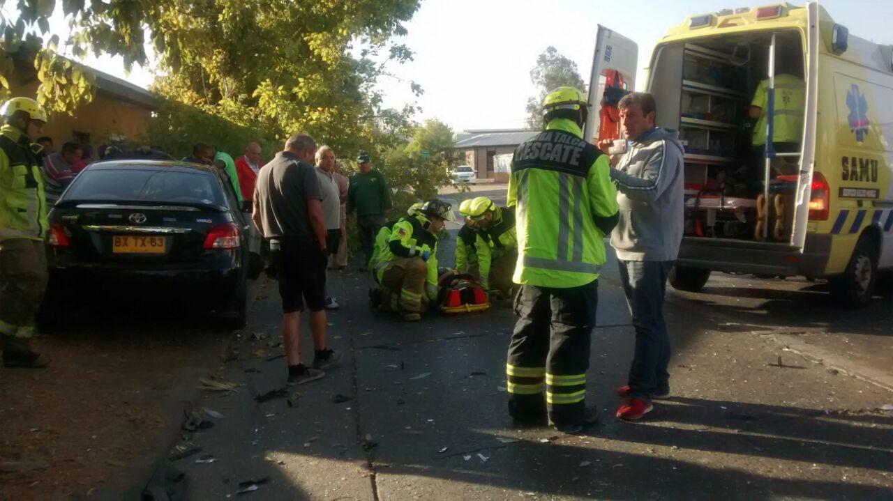 Violenta Colisión deja 6 Heridos en Sector Norte de Talca