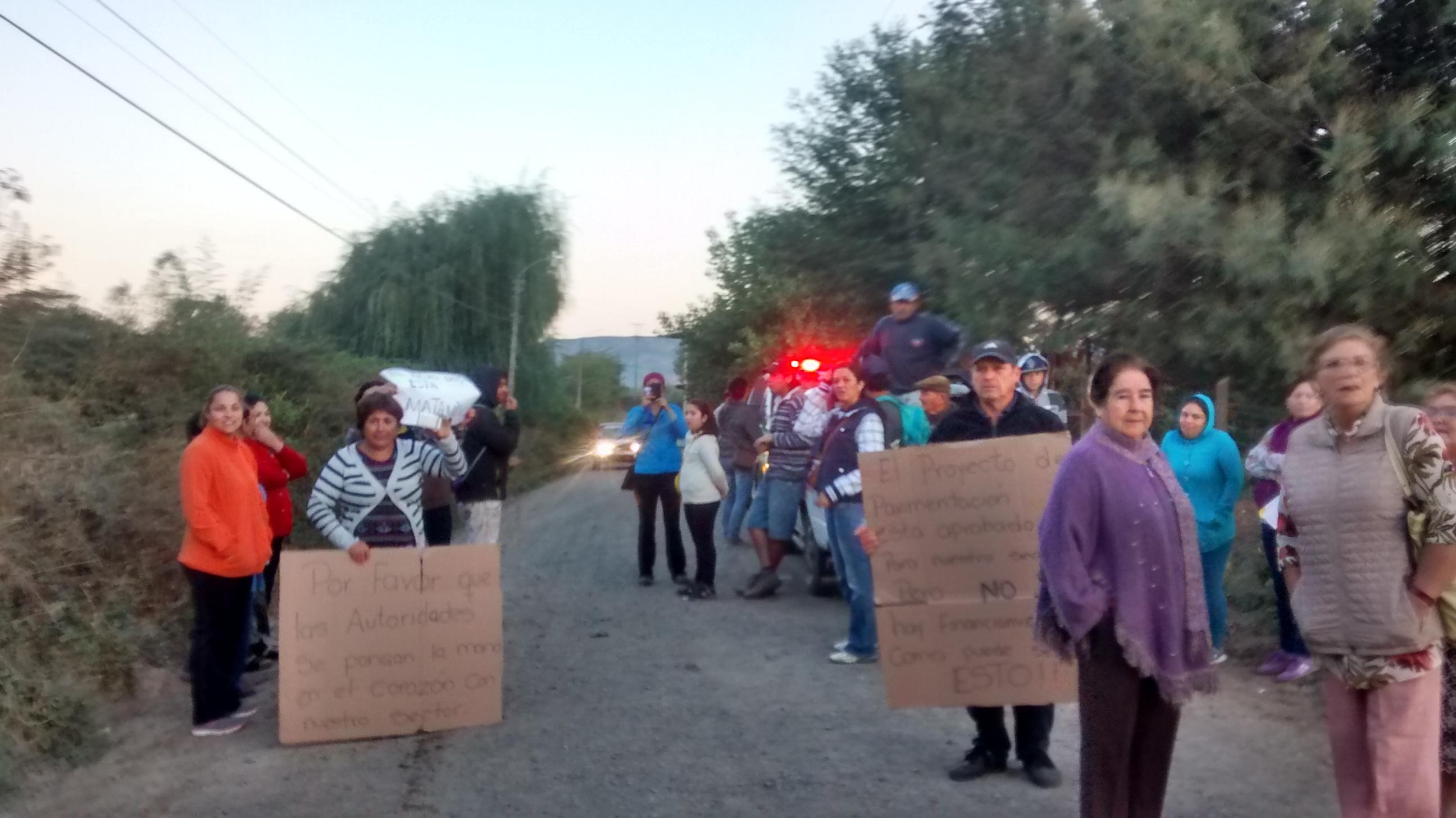Sin detenidos finalizó nueva toma de la ruta rural K-511 Altos de Lircay en Talca