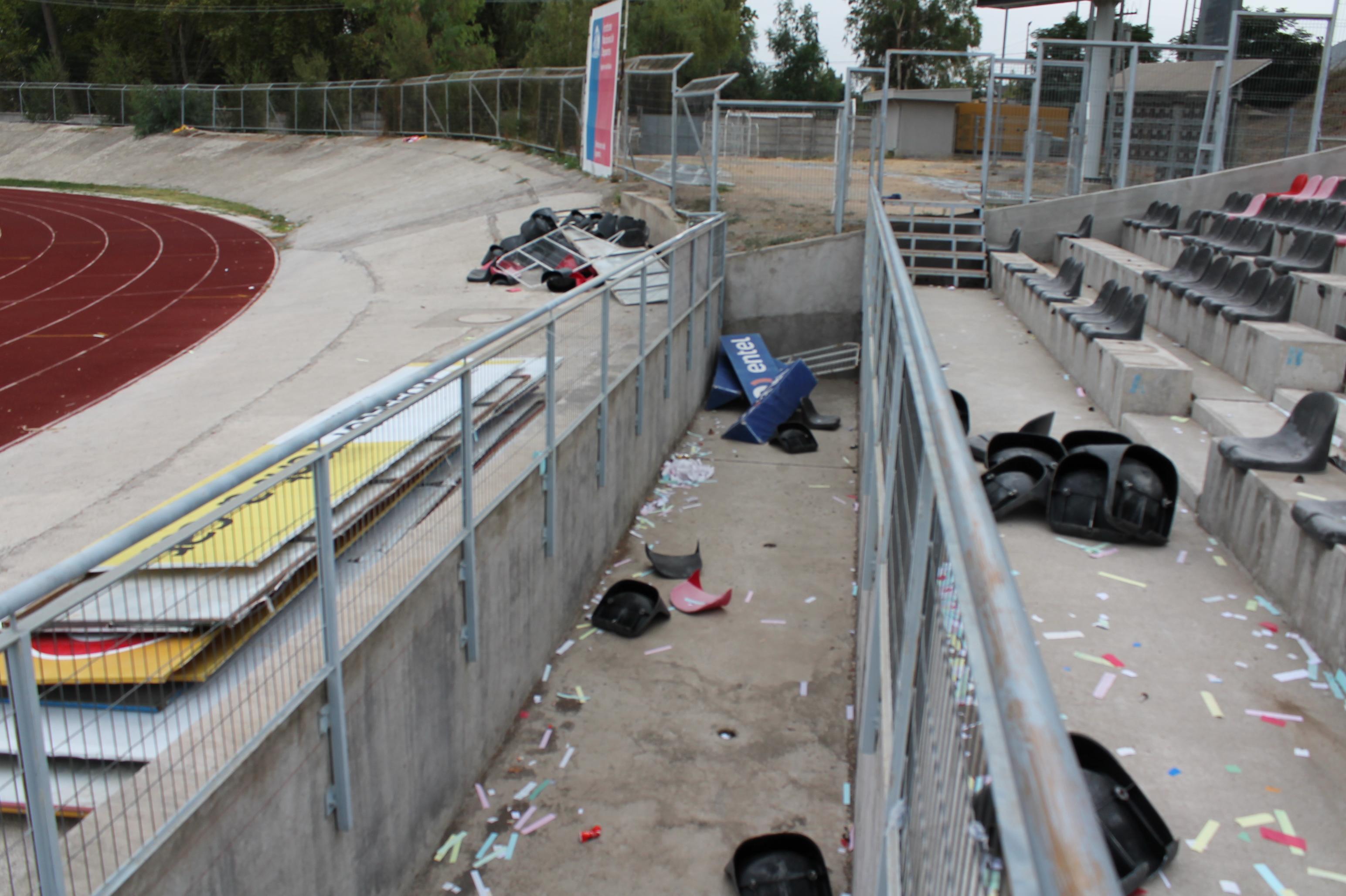 Clásico entre  Rangers y Curicó dejó destrozos millonarios en el Fiscal de Talca