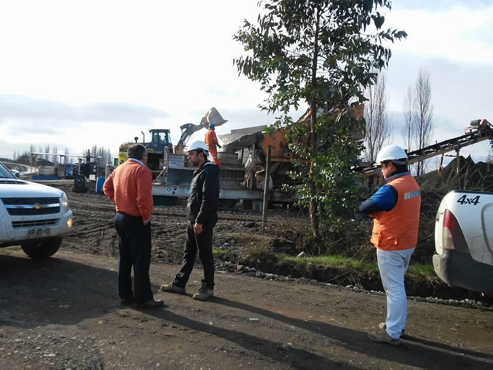 Comenzó obra de asfalto en ruta que unen Piguchen y Villaseca en Retiro