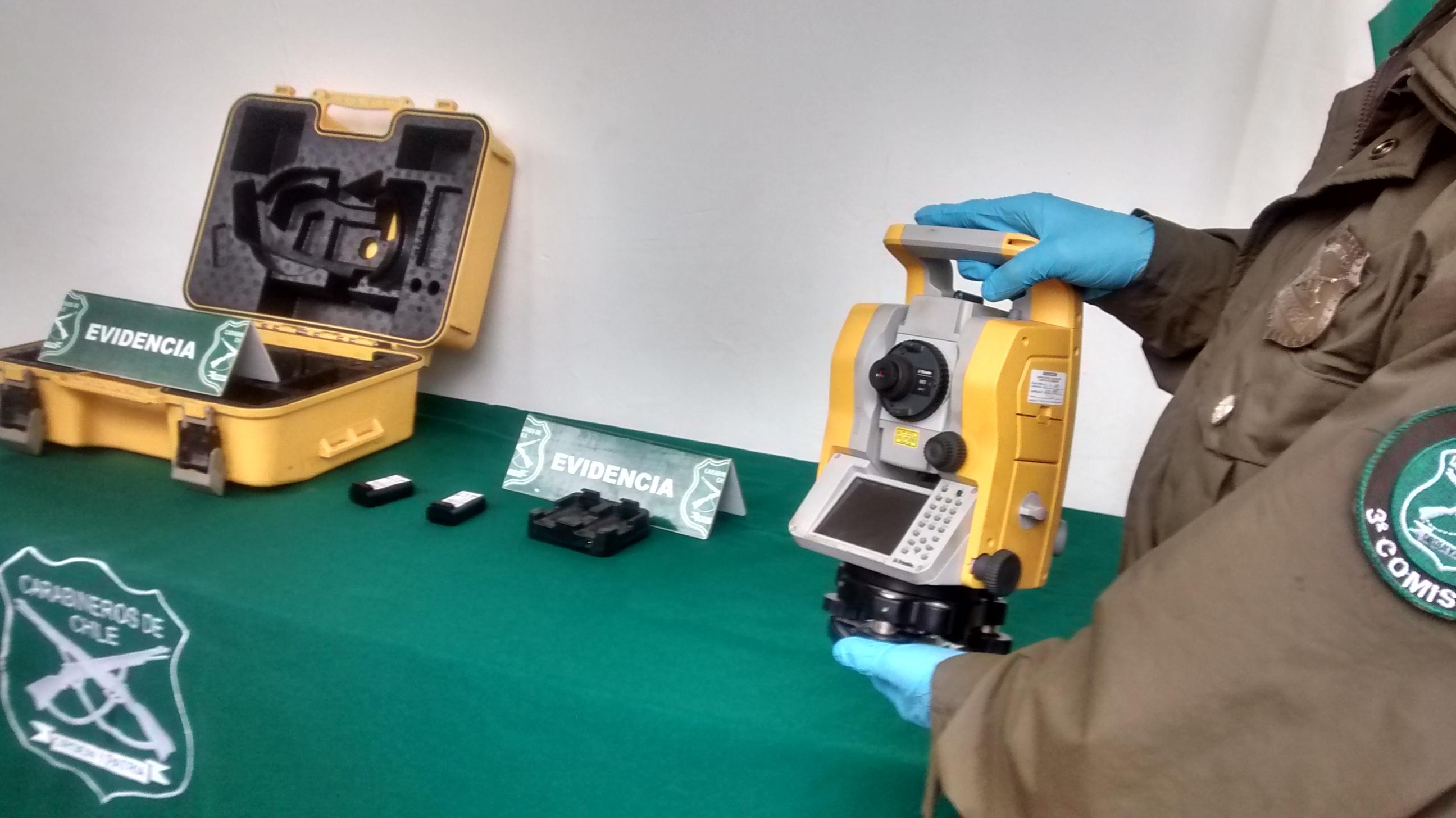 Aclaran cuantioso robo de equipos topográficos en Talca