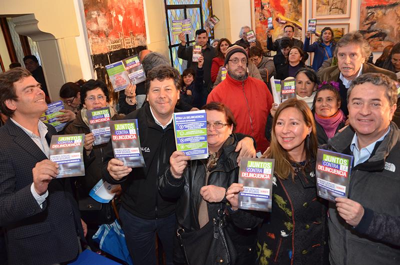 """Lanzan campaña """"Juntos contra la Delincuencia"""" en Talca"""