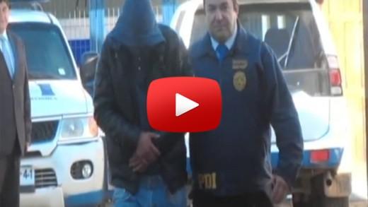 [Video] Personal de la brigada de robos de la BIRO de la policía de investigaciones de Talca, detiene a uno de los integrantes que participó en violento asalto a la empresa Pullman Cargo.
