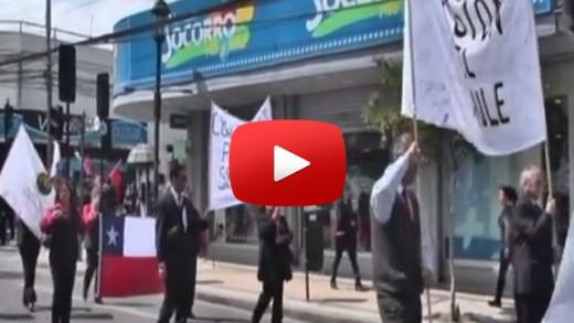 [Video] Con una marcha, funcionarios de la ANEF apoyaron en Talca, a los trabajadores del servicio del registro civil,  en paro por más de 29 días.