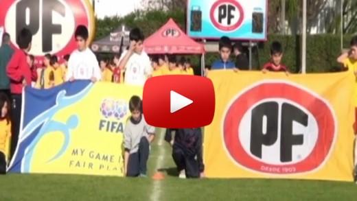 [Video] En el complejo deportivo PF de Talca, se dio el vamos a la décimo tercera versión del campeonato nacional de futbol escolar sub 12 -copa PF 2015-