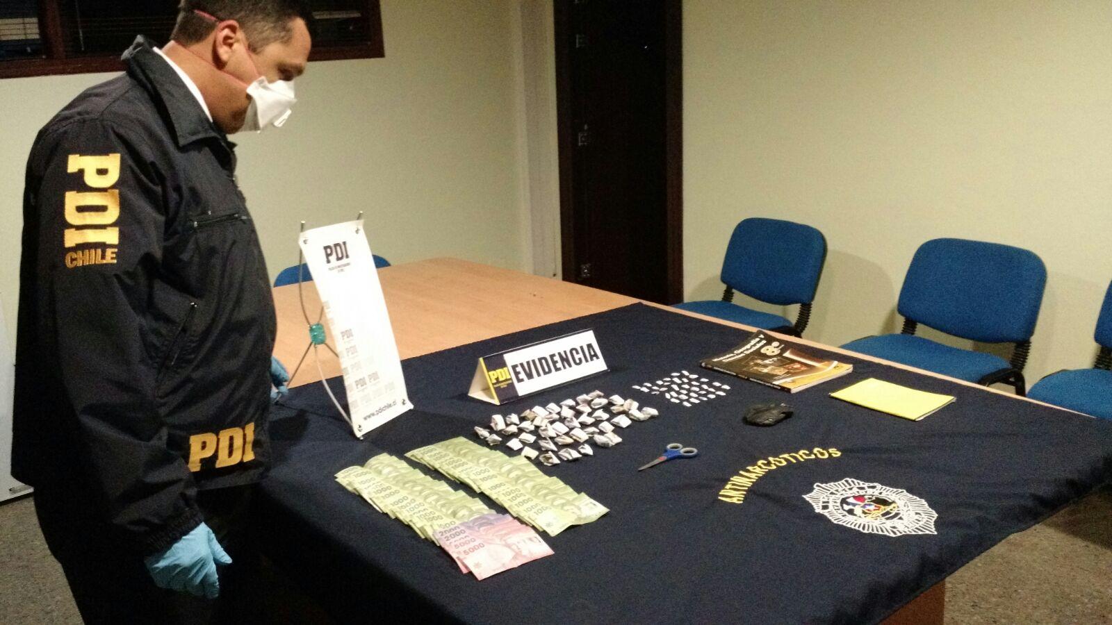 La PDI bajo el plan MT-Cero, desarticula punto de venta de drogas