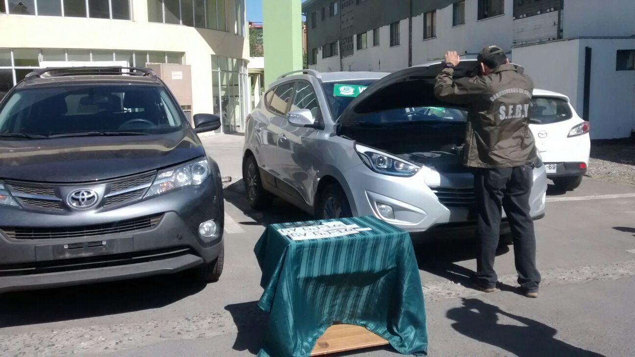 En Talca Carabineros recupera vehículos robados en Santiago