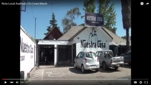 [Video]  Restobar de Talca ha sido robado 10 veces en un año, 3 de éstas en menos de 48 Horas.