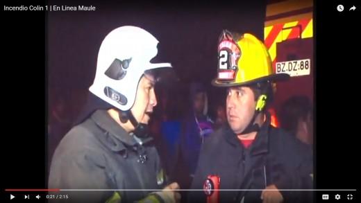 [Video] Una casa destruida y otra con daños menores, dejo incendio registrado anoche en Talca.