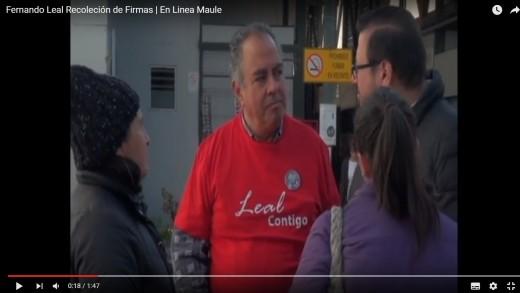 [Video] Fernando Leal realiza recolección de firmas para poder postular al sillón edil de Talca.