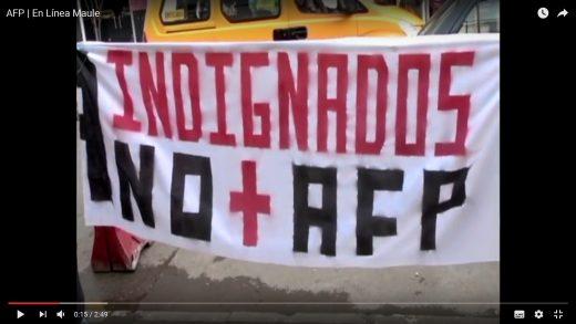 [Video] Con movilizaciones, organizaciones sociales se manifiestan en contra de las AFP en Talca.