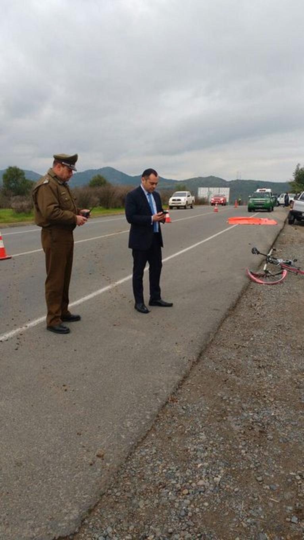 Ciclista muere tras ser impactado por camioneta en ruta Los Conquistadores en San Javier
