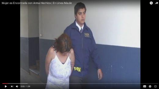 [Video] La BIRO de la PDI de Talca, detuvo a una mujer por porte ilegal de arma de fuego y receptación.