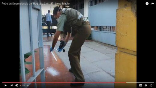 [Video] Roban dependencias del registro civíl en Talca