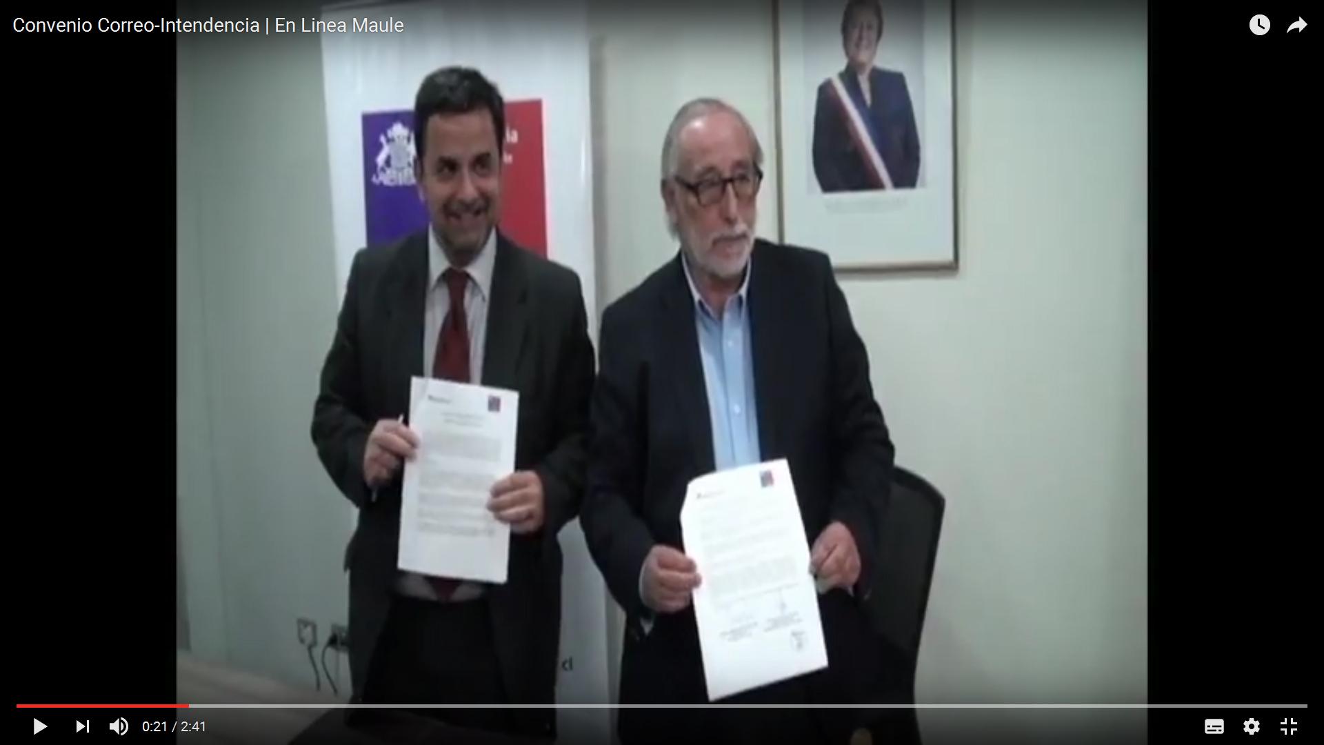 Video Convenio Entre Ministerio Del Interior Y Correos