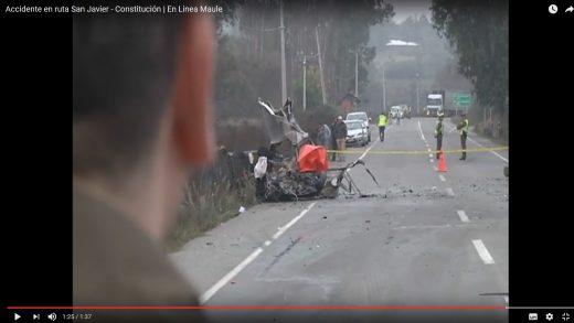 [Video] Una persona fallecida fue el resultado de accidente en ruta San Javier- Constitución.