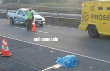 HOMBRE MUERE ATROPELLADO EN RUTA CINCO SUR FRENTE A MAULE