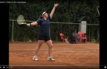 """[Video] El próximo sábado 20 de mayo se realizará torneo de tenis """"10"""" en el estadio español de Talca."""