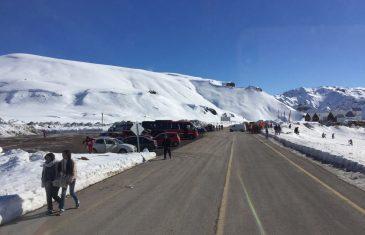 Despeje de nieve hasta el sector Lo Aguirre del Pehuenche