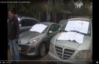 [Video] Pobladores del sector tejas verdes en las rastras de Talca, protestan por el mal estado del camino.