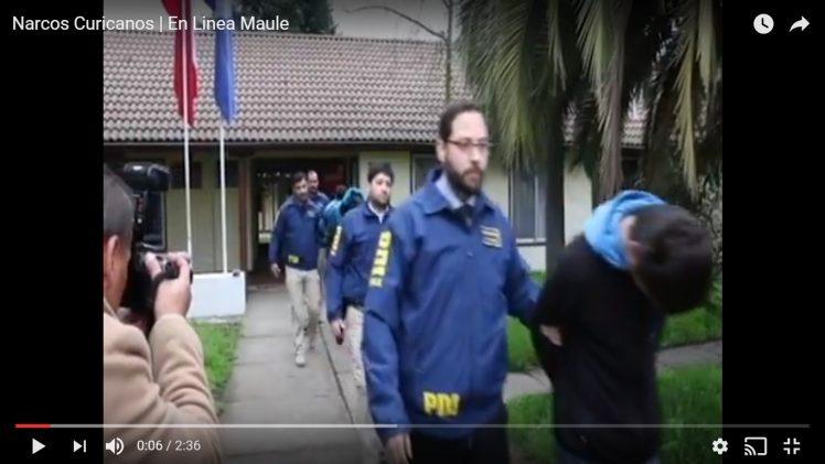[Video] Duro golpe al narcotráfico dio la brigada antinarcóticos de la policía de investigaciones PDI, en Curicó.