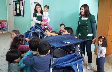 Jardines infantiles VTF de Talca recibieron donación del Desafío Levantemos Chile