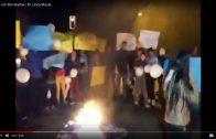 [Video] Con barricadas, pobladores protestan por inseguridad en cruce de la avenida circunvalación norte con 5 oriente en Talca, que termino con la vida de niño de 4 años.