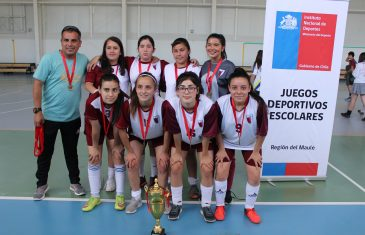 Colegios talquinos ganaron la final de Futsal sub 16