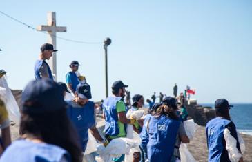 200 Kilos de basura fueron retirados de playas de Curanipe