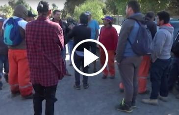 Grupo de trabajadores que construyen la nueva cárcel de Talca, se toman completamente el recinto, por masivos despidos.