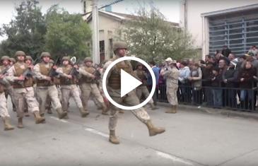 En plaza Arturo Prat en Talca se realizó el desfile en conmemoración del combate naval de Iquique