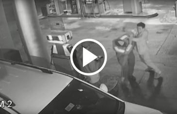 Con arma de fuego, delincuente asalta violentamente, servicentro COPEC, en el centro de Talca.