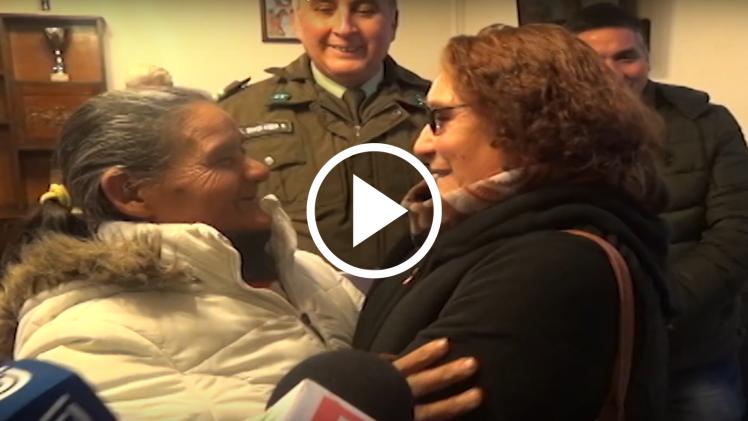 Emotivo reencuentro tuvieron dos hermanas, separadas hace más de 50 años, y que gracias carabineros de la cuarta comisaría de Talca, se pudo concretar.