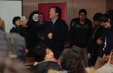 Alcalde de Talca informó de avances de proyecto de alcantarillado en Huilquilemu