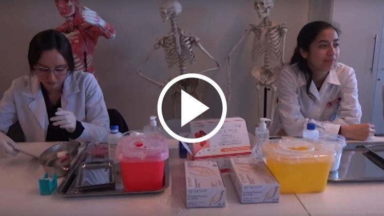 En la Universidad de Inacap se hizo un test Rápido de VIH.