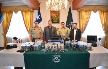 Gobierno regional entregó 39 cámaras para fortalecer labor de Carabineros