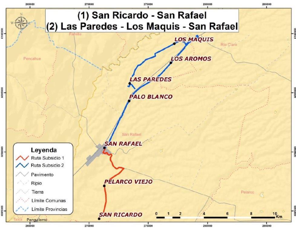 Zonas aisladas en el Maule contarán con servicio de transporte