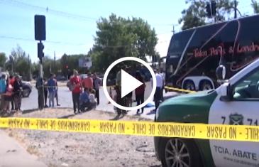 Fatal accidente se produjo la mañana de este jueves en sector oriente de Talca.Mujer fallece en el lugar, atropellada por un microbús de línea 1 empresa Sotratal.