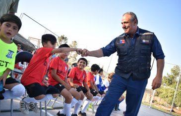 Intendente Milad inauguró multicancha de fútbol en Casa Blanca