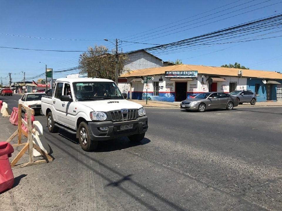 Desvíos por trabajos en 11 oriente 6 sur en Talca