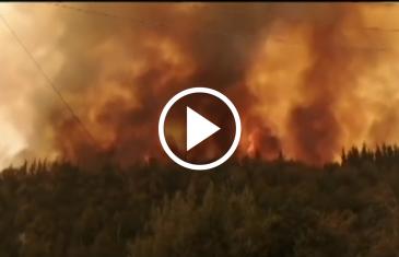 Continúa el incendio forestal del sector aguas frías de Molina, se tiene contenido cerca del 60% de la emergencia.