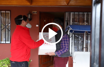 Municipio de Talca comenzó la entrega de siete mil cajas de alimentos