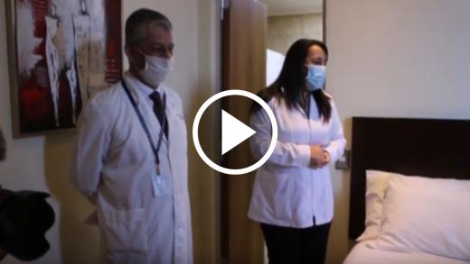 Autoridades de salud visitan residencia sanitaria en Talca para verificar estado de los pacientes COVID positivo
