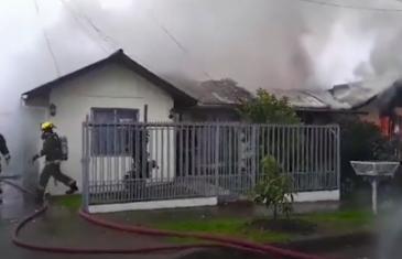 Incendios estructurales se registraron durante este fin de semana en Talca