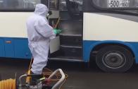 Continúa proceso de sanitización en terminales de locomoción colectiva en Talca
