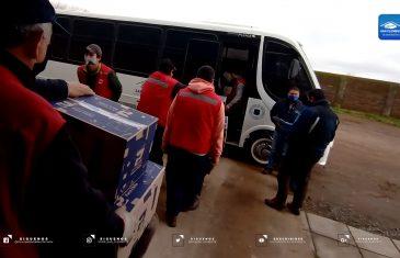 """Municipio de San Clemente continúa desplegado en terreno entregando cajas del plan """"Alimentos para Chile del gobierno"""""""