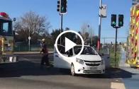 Virar en lugar no permitido en avenida circunvalación de esta ciudad originó accidente de tránsito entre dos vehículos menores. Un lesionado
